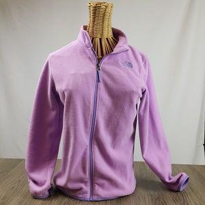 The Northface purple zip up, kids large 14/16
